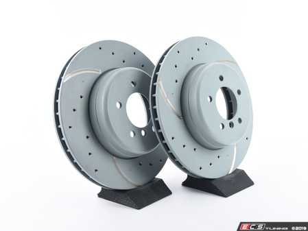 ES#3672995 - 34116763824U - Bavarian Autosport Ultimate Brake Rotor Set - Front - Couple these with upgraded pads for dramatically improved stopping. - Bavarian Autosport - BMW