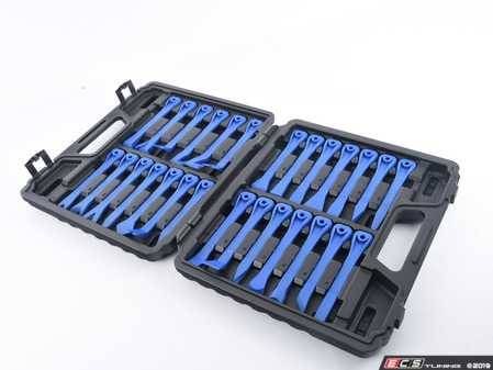 ES#3673952 - B8800116 - Non-Marring Pry Tool Set - Bavarian Autosport - 27 Piece, remove trim panels without ruining your interior. - Bav Auto Tools - Audi BMW Volkswagen Mercedes Benz MINI Porsche