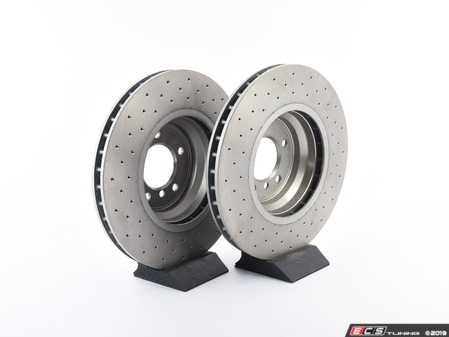 ES#3672996 - 34116770729D - Bavarian Autosport Cross Drilled Brake Rotor Set - Front - Couple these with upgraded pads for dramatically improved stopping. - Bavarian Autosport - BMW