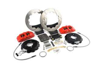 ES#3550006 - 140-13062-R - Wilwood Dynapro 6 Front Hat Kit 12.88in Red - Featuring 6 piston calipers, 2 piece rotors, stainless brake lines, and performance brake pads - Wilwood - MINI
