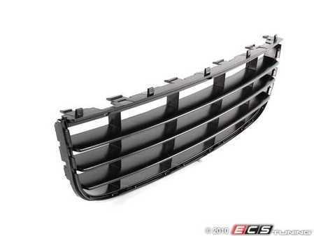 ES#6069 - 1K0853677C9B9 - Lower Center Grille - Black - Standard black grille with no chrome molding - Genuine Volkswagen Audi - Volkswagen