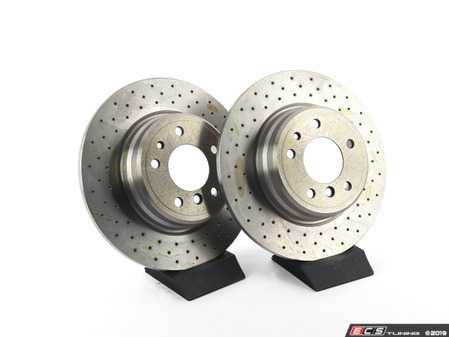 ES#3673002 - 34211159900D - Bavarian Autosport Cross Drilled Brake Rotor Set - Rear - Couple these with upgraded pads for dramatically improved stopping. - Bavarian Autosport - BMW