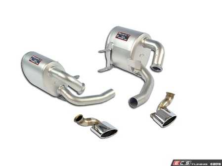 ES#3971740 - 996C4SCATBACKKT1 - 996 Carrera 4S CatBack System With TUV Sport Mufflers & Oval Tips - Hand Made in Italy - Quality fitment along with improved sound and performance for your 996 C4S - Supersprint - Porsche