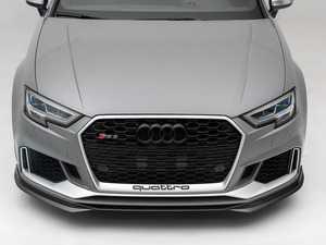 ES#3619006 - 027001ecs01KT - Audi 8V RS3 Carbon Fiber Front Lip Spoiler - Hand-laid carbon fiber to upgrade your exterior styling - ECS - Audi