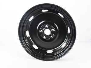 "ES#3628055 - 5Q0601027BC03C - 18"" Spare Wheel - 18""x3.5"" ET25 5x112 Rally Black. Does not include the tire - Genuine Volkswagen Audi - Audi Volkswagen"