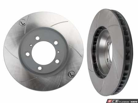 ES#3979209 - 99735140501L - 997 Turbo / Turbo S Slotted And Coated Brake Rotor - Left Side - Sebro is an OE Manufacturer for Porsche - Sebro - Porsche