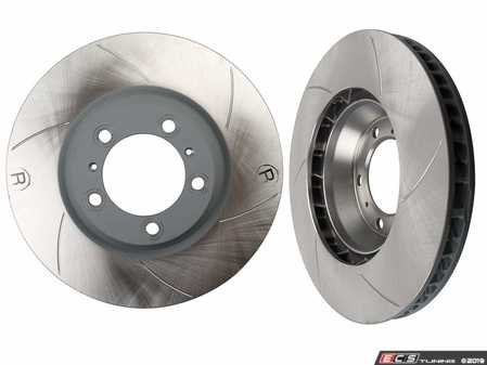 ES#3979208 - 99735140601r - 997 Turbo / Turbo S Slotted And Coated Brake Rotor - Right Side - Sebro is an OE Manufacturer for Porsche - Sebro - Porsche