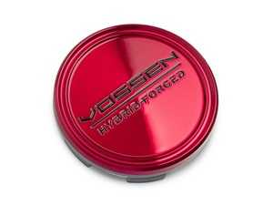 ES#3979352 - VHF-TRB - Hybrid Forged Transparent Red/Black Center Cap - Priced Each - This cap is transparent gloss red with black logo, priced individually. - Vossen - Audi BMW Volkswagen Mercedes Benz MINI Porsche