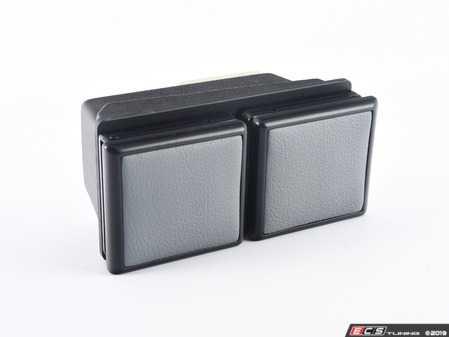 ES#3676323 - BMWE46-D/FGY - Bavarian Autosport Console Mount Double Cup Holder - Gray - Bavarian Autosport -