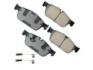 ES#3980593 - EUR1636 - Premium Front Ceramic Brake Pad Set - Includes front brake pad wear sensors - Akebono - Mercedes Benz