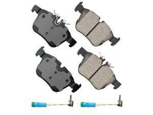 ES#3980595 - EUR1795 - Premium Ceramic Rear Brake Pad Set - For those looking for a low dust replacement brake pad - Akebono - Mercedes Benz