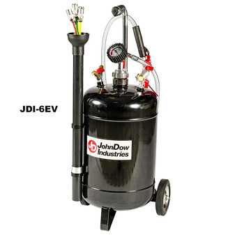 ES#3980603 - JDI6EV - 6 Gallon Fluid Evacuator - Designed to remove used oil and other fluids from any vehicle when conventional draining methods are not practical. Fluid evacuators remove used oil and other non-flammable fluids from almost any vehicle using compressed air and an on-board venturi  - John Dow Industries - Audi BMW Volkswagen Mercedes Benz MINI Porsche
