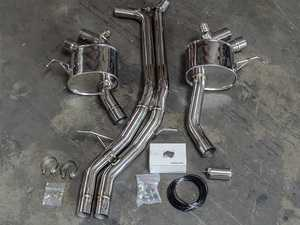 ES#3463601 - AP-95BT-170 - Macan Turbo / S / GTS Performance Catback Exhaust System - Polished 304 Stainless Steel with Valved Mufflers - Agency Power - Porsche