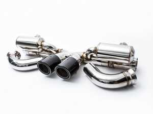 ES#3463621 - AP-991GT3-170B - 14-19 991 GT3 / GT3 RS / GT3 RS 4.0 - Valved Exhaust System - Black Tips - Get the sound that should of came factory - This valved system can quickly change your GT3 into a monster with the push of a button - Agency Power - Porsche