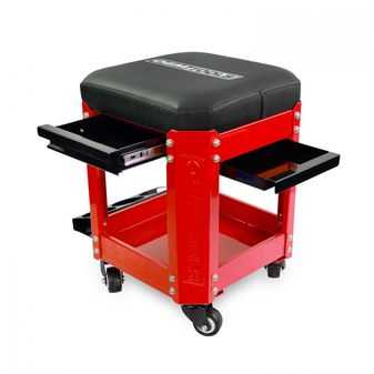 ES#3980731 - OEM24998 - Workshop Creeper Seat ( Red) - Works like a mini tool bos you can sit on. - OEM Tools - Audi BMW Volkswagen Mercedes Benz MINI Porsche