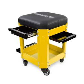 ES#3980735 - OEM24999 - Workshop Creeper Seat (Yellow) - Take your tools with you with this creeper. - OEM Tools - Audi BMW Volkswagen Mercedes Benz MINI Porsche