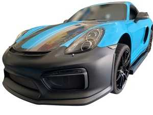 ES#3980752 - 0ECS981GT4FT - 981 Cayman/Boxster GT4 Front Bumper Conversion Kit - Completely change the look of you 981 Cayman/Boxster or Cayman S / Boxster S front bumper with this GT4 conversion kit - ECS - Porsche