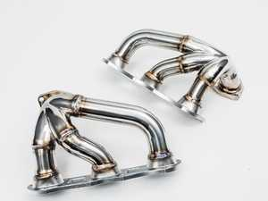 """ES#3980767 - AP-991TT-175 - 14-18 991 Turbo / Turbo S Tubular Ceramic Coated Headers - No cutting, welding, or drilling required - Increased Diameter - 304 Stainless - 3/8"""" Thick Flanges - Agency Power - Porsche"""