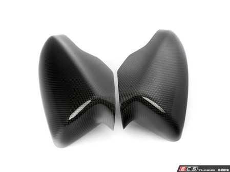 ES#3061108 - BM-0155-P - Mirror Cover Caps - Carbon Fiber - 1x1 twill weave carbon replacement - AUTOTECKNIC - BMW