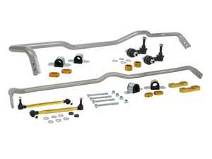 ES#3980839 - BWK019 - Complete Sway Bar Vehicle Kit - Complete kit includes 26mm front sway bar, 24mm rear sway bar, high-quality end links, and mounting hardware - Activate More Grip! - Whiteline - Audi Volkswagen