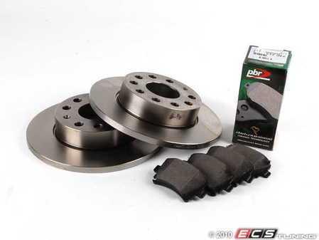 ES#257591 - 1k0698065 - ECS Rear Brake Service Kit - Includes Pilenga Rotors & Akebono ceramic pads - Assembled By ECS -