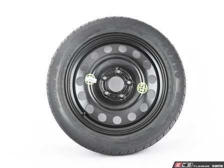 """ES#3970388 - 3611675877813580 - 17"""" Emergency Spare Wheel/Tire Set - Includes Genuine BMW 17x4"""" ET18 steel wheel with mounted and balanced Kumho 135/80/17 tire. - Assembled By ECS - BMW MINI"""