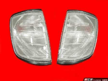 ES#2808058 - 4401606PTBVC - 86-95 W124 Clear Corner Light Set - European style and great quality replacement side markers for your W124 - Depo - Mercedes Benz