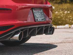 ES#3579736 - 024740ecs01KT -  MK7 GTI Carbon Fiber Rear Diffuser - Add aggressive styling with our In-House Engineered Carbon Fiber Rear Diffuser! - ECS - Volkswagen