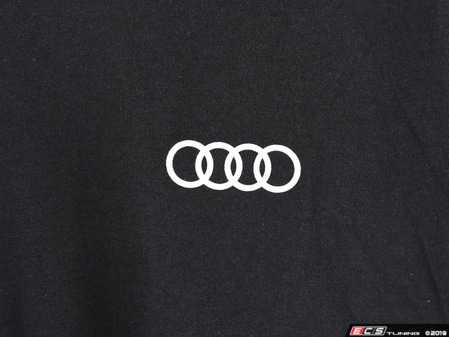 ES#3133454 - ACM3001BLKMD - Quattro T-Shirt - Black - Medium - Sometimes less is more. Make yourself known with the quattro T-Shirt. 100% combed and ringspun cotton. - Genuine Volkswagen Audi - Audi BMW Volkswagen Mercedes Benz MINI Porsche