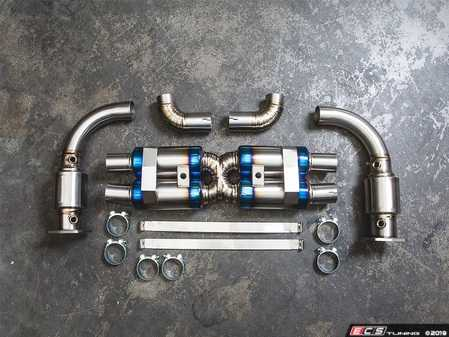 ES#3981111 - AP-997TT-179CHRO -  2007-2009 997.1 Turbo / GT2 Turbo-Back Titanium Performance Exhaust System - Chrome Tips - Made of ultra lightweight titanium from the high flow 200cell cats all the way to the exit pipes - Agency Power - Porsche