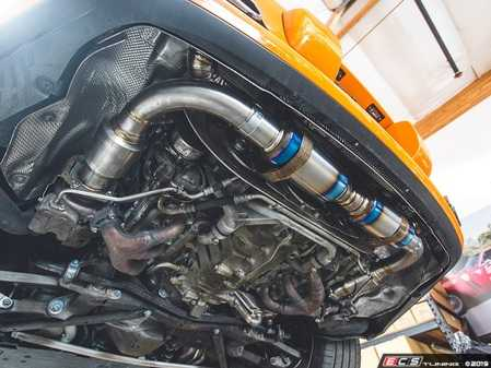 ES#3981112 - AP-997TT-179mbla -  2007-2009 997.1 Turbo / GT2 Turbo-Back Titanium Performance Exhaust System - Matte Black Tips - Made of ultra lightweight titanium from the high flow 200cell cats all the way to the exit pipes - Agency Power - Porsche