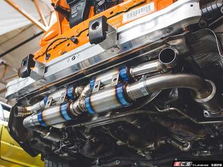 ES#3981114 - AP-997TT-179TITS -  2007-2009 997.1 Turbo / GT2 Turbo-Back Titanium Performance Exhaust System - Titanium Satin Finish Tips - Made of ultra lightweight titanium from the high flow 200cell cats all the way to the Exhaust Tips - Agency Power - Porsche