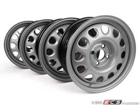 ES#251662 - 357601025M-4 - Steel Wheels- Set Of 4 - (NO LONGER AVAILABLE) - 15x6, Et35, 4x100 bolt pattern, Also know as the Corrado steelie - Genuine Volkswagen Audi -