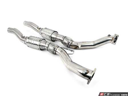 ES#3137968 - 500001001 - Wagner Tuning Downpipe Kit  - 304 Stainless downpipe kit with 100cpi high-flow cats, engineered using the latest CAD design and flow technology - Wagner Tuning - Audi