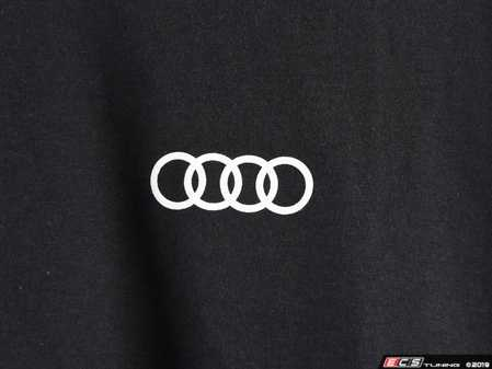 ES#3133455 - ACM3001BLKSM - Quattro T-Shirt - Black - Small - Sometimes less is more. Make yourself known with the quattro T-Shirt. 100% combed and ringspun cotton. - Genuine Volkswagen Audi - Audi BMW Volkswagen Mercedes Benz MINI Porsche