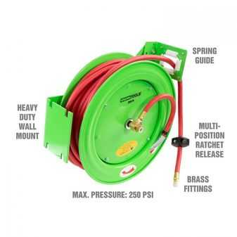 ES#3984471 - OEM25979 - Wall Mounted Hose Reel W 50 Ft Air Hose. - Mount anywhere and get your air line off the floor. - OEM Tools - Audi BMW Volkswagen Mercedes Benz MINI Porsche