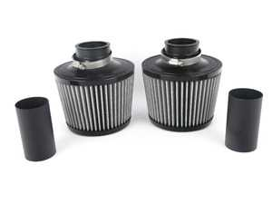 ES#3603608 - BMS-N54-DCI-W - Performance Dual Cone Intake - White - Replace your restrictive air box with these dual high flow cone filters for the highest possible air flow! - Burger Motorsports - BMW