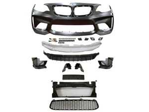 ES#3970982 - 22ECSF22M2FT1 - M2 Style Front Bumper  - Add the upgraded M2 aggressive look to your BMW! Primed and ready to paint. - ECS - BMW