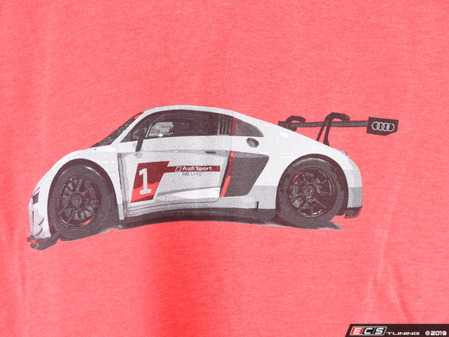 ES#3572012 - ACM3026REDSM - Audi R8 LMS GT3 T-Shirt - Red - Small  - Cross the finish line first every time with the Audi R8 LMS GT3 Tee! - Genuine Volkswagen Audi - Audi BMW Volkswagen Mercedes Benz MINI Porsche