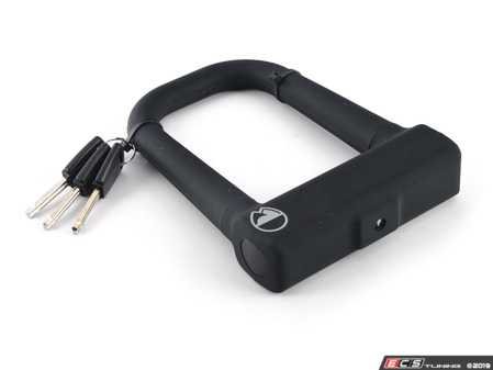 """ES#3980634 - 35110 - Warrant U-Lock - With more of a square-shaped """"U"""" in the 14mm hardened steel shackle, provides more usable space in a pocket friendly size. - Rocky Mounts - Audi BMW Volkswagen Mercedes Benz MINI Porsche"""