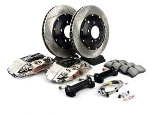 ES#3706866 - 83.131.4600.F1 - StopTech Front 4 Piston Big Brake Kit (332x32mm) - Comes with 4 piston nickel plated calipers, 2 piece zinc coated slotted rotors and stainless steel brake lines. Includes brackets and mounting bolts. - StopTech - BMW