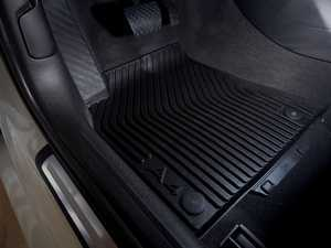ES#452702 - 8K1061221041 - Front All Weather Rubber Floor Mats - Satin Black - Featuring the 'A4' logo - Genuine Volkswagen Audi - Audi
