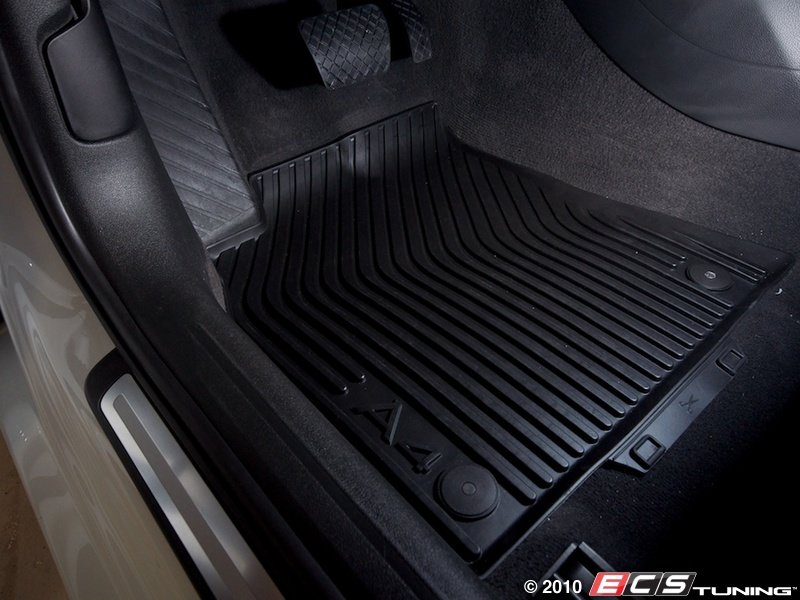 es452702 front all weather rubber floor mats satin black
