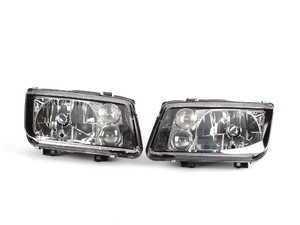 ES#10048 - zz560-2122 - European Headlight Set - Black - With fog lights, clear turn signals, and bulbs - ZiZa - Volkswagen