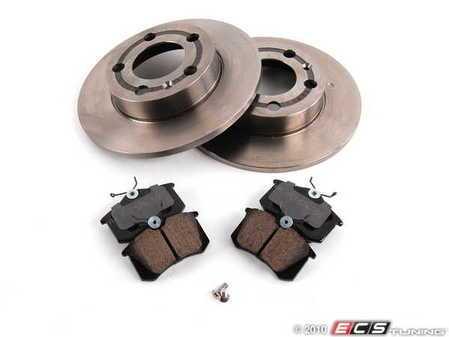 ES#2075211 - 1J0698086 - Rear Brake Service Kit - Including Brembo Rotors & Akebono Brake Pads - Assembled By ECS - Volkswagen