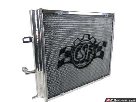 ES#3987599 - 8131 - High Performance Radiator - Polished - A high performance heat exchanger like this will keep the engine at a more consistent temperature and drop intake temps dramatically. - CSF - BMW