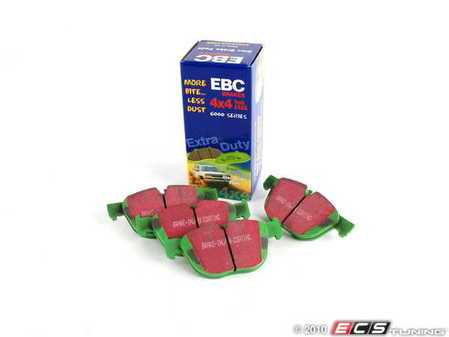 ES#2070917 - DP61938 - GreenStuff Performance Brake Pads - Designed as a mildly upgraded pad, great for an afternoon of sporty driving. - EBC - BMW