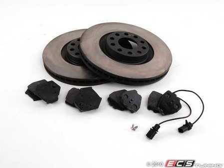 ES#2083423 - 8D0698005 - Front RPS Kit - OP Parts Rotors & Mintex Red Box Pads - Everything you need to service your brakes in an afternoon, includes square/round sensor plug - Assembled By ECS -