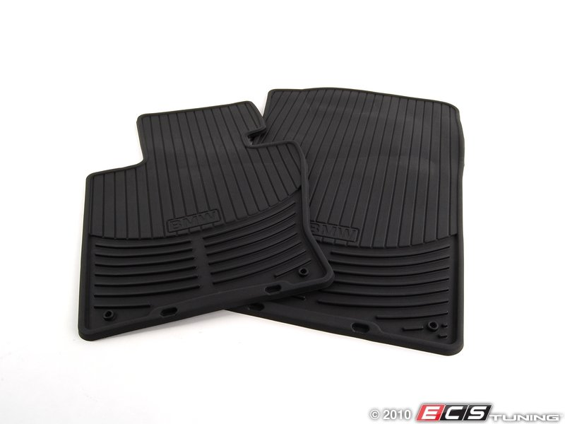 es194982 front all weather floor mat set black rubber
