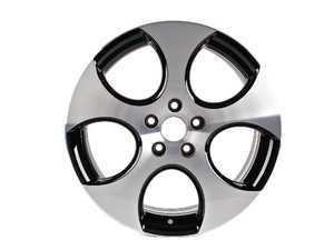 """ES#1070844 - 1K0601025BAFZZ - 18"""" Detroit Wheel - Priced Each - Silver with Black accent. 18x7.5 ET51 - Genuine Volkswagen Audi - Volkswagen"""